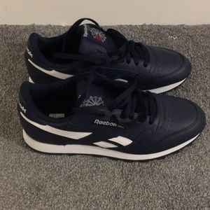 New Reebok Classic Leather Navy Sneakers Size 11